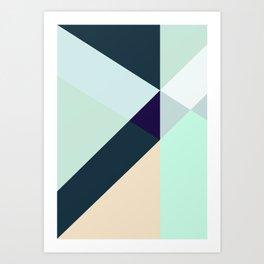 GREEN LOVES BLUE Art Print