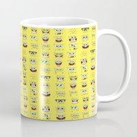 spongebob Mugs featuring spongebob  , spongebob  games, spongebob  blanket, spongebob  duvet cover by ira gora