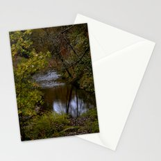 river through the fall Stationery Cards