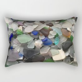 Sea Glass Assortment 1 Rectangular Pillow