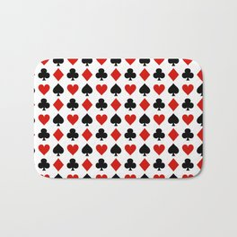 Card Suits Bath Mat