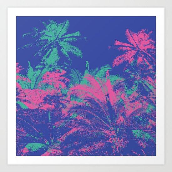 Colored Palms Art Print