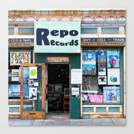 Record Store Canvas Print