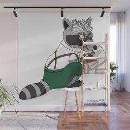 Mr. Raccoon Wall Mural