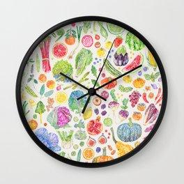 Seasonal Harvests - Neutral Wall Clock