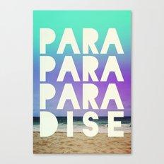 PARADISE (AQUA) Canvas Print