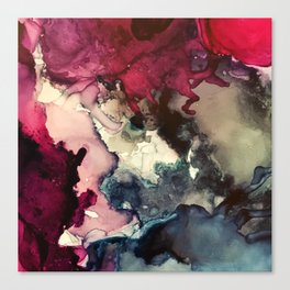 Dark Inks - Alcohol Ink Painting Canvas Print