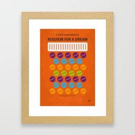 No858 My Requiem for a Dream minimal movie poster Framed Art Print