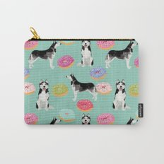 Husky donuts cute dog portrait pet friendly dog art husky puppies must have gifts for dog lover Carry-All Pouch