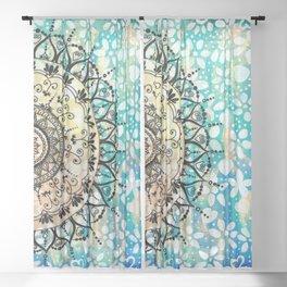 Flower Mandala Pattern Sheer Curtain