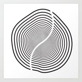 Wood section Art Print