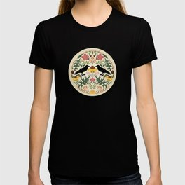 Crows, Wild Roses, Thistles And Sunflowers T-shirt