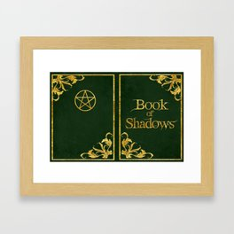 Green Book of Shadows v2 Framed Art Print