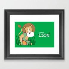 L is for Lion.. Framed Art Print