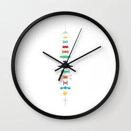 A Galaxy Far Far Away Ship Lineup Wall Clock