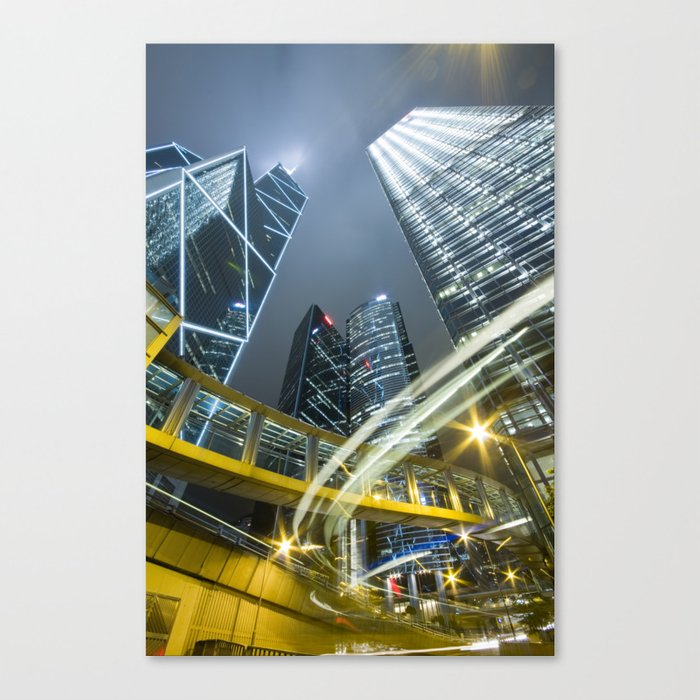 Hong Kong Night City Leinwanddruck