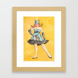 """""""I'm a woman and I can't be taken for granted."""" (Catwoman) Framed Art Print"""