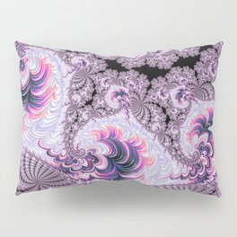 Pink and Purple Fractal Pillow Sham