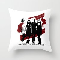 pretty little liars Throw Pillows featuring Pretty Little Liars by Rose's Creation