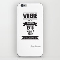 back to the future iPhone & iPod Skins featuring back to the future by christopher-james robert warrington
