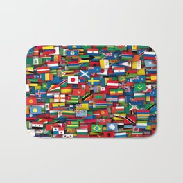 Flags of all countries of the world Bath Mat