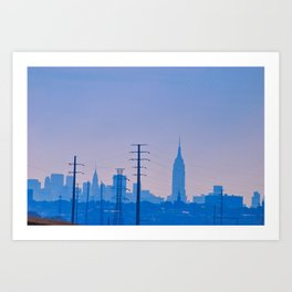 Looking into NYC Art Print