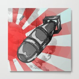 Atom Bomb Fat Boy Metal Print