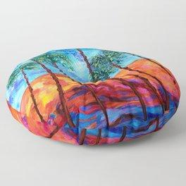 California Palm Trees Floor Pillow