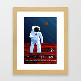f8 & Be There Framed Art Print