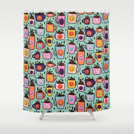 Smiley Coffee Shower Curtain