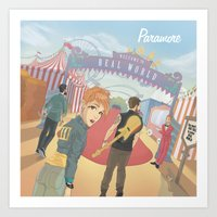 paramore Art Prints featuring Paramore - Welcome to Real World by Zinenkoij