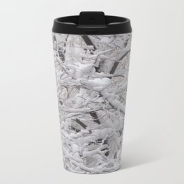 Snow laden trees Travel Mug