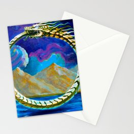Ouroboros by Adam France Stationery Cards