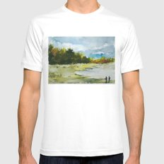 Fishing Mens Fitted Tee MEDIUM White