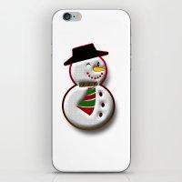 snowman iPhone & iPod Skins featuring Snowman by Gaspar Avila