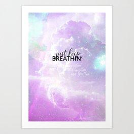 breathin' Art Print