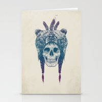 dead Stationery Cards featuring Dead shaman by Balazs Solti