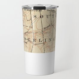 Vintage Burlington Vermont Topographic Map (1904) Travel Mug