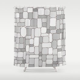 Stone Wall #4 - Grays Shower Curtain