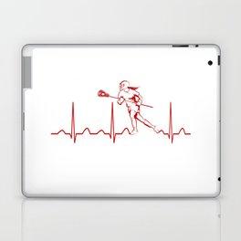 LACROSSE WOMAN HEARTBEAT Laptop & iPad Skin