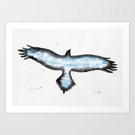 Cloud Eagle.  Art Print
