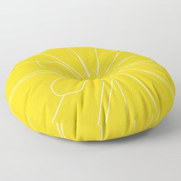 Yellow Flower Floor Pillow