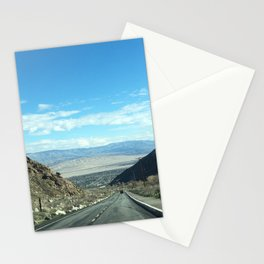 Mountain Road in Palm Springs California Stationery Cards