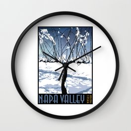 Winter in the Vineyard (Poster) Wall Clock