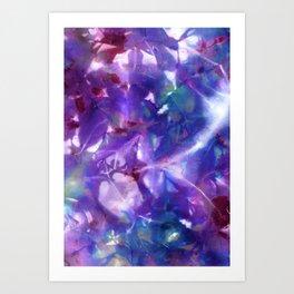 Blue Stargazer Floral Art Print