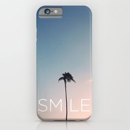 Palm tree Smile iPhone Case