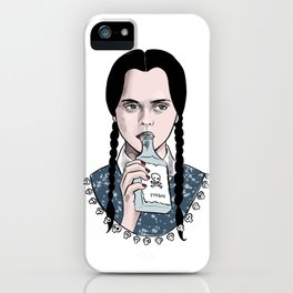 Stay creepy - Wednesday Addams illustration iPhone Case