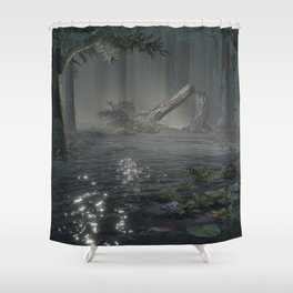 Somber Swampland Shower Curtain
