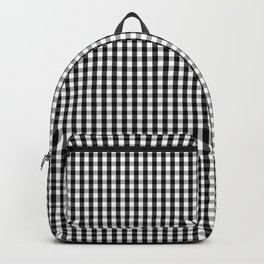 Classic Small Black & White Gingham Check Pattern Backpack