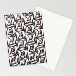 Rosé Square Pattern Stationery Cards